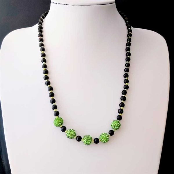 Green Sparkly Necklace