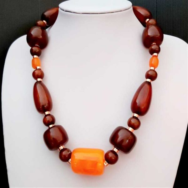 Chunky Brown Necklace
