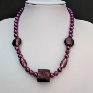 Deep Purple Bead Necklace