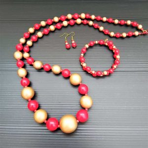 Red & Gold Bead Set