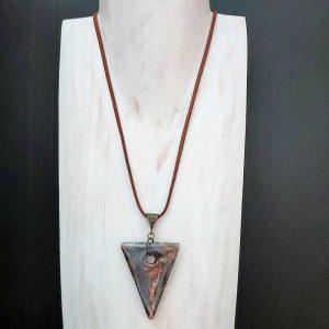 Grey Triangle Pendant