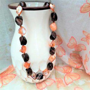 Orange Abalone Beads