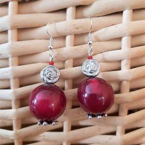 Deep Red Earrings