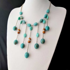 Blue Cascading Necklace