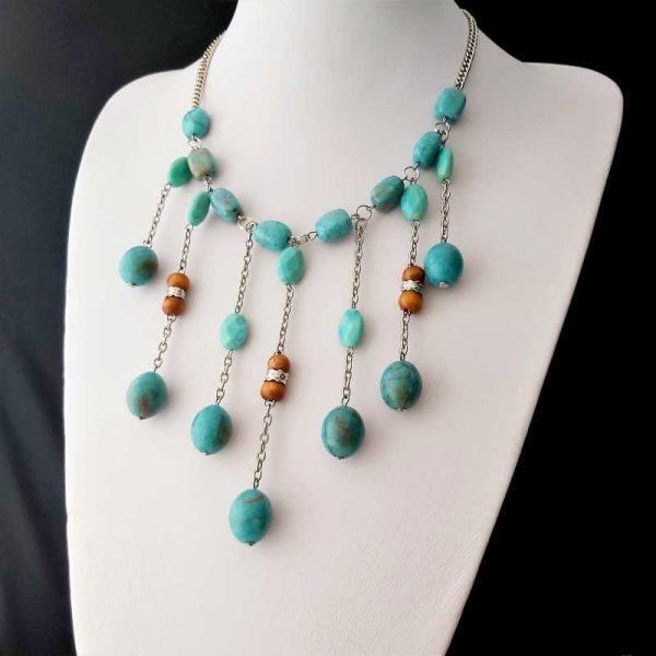 Blue Cascading Necklace