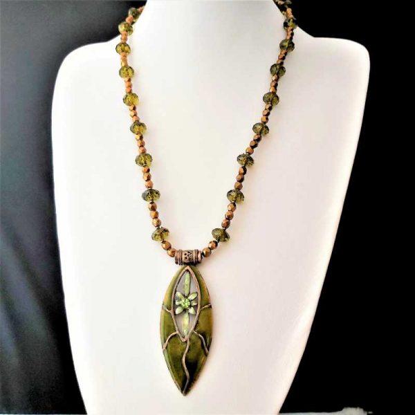 Green & Bronze Necklace