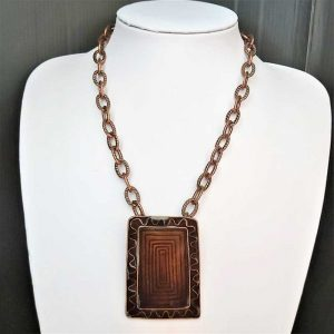 Brown Square Necklace