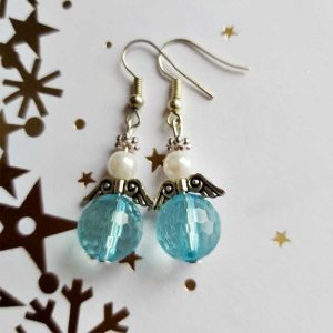 Light Blue Angel Earrings