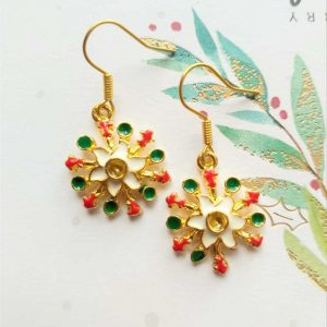 Colourful Snowflake Earrings