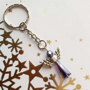 Purple Angel Keyring