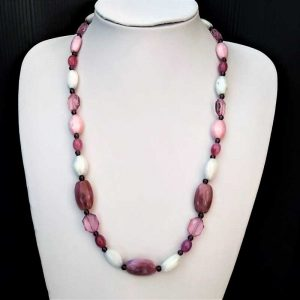 Lilac Mix Bead Necklace
