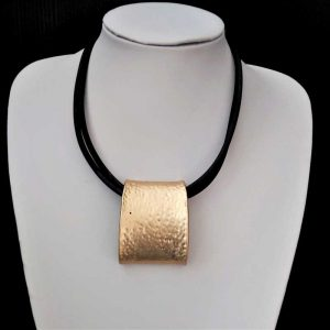 Chunky Gold & Black Necklace