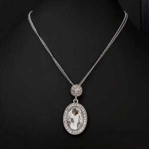 Clear Diamante Pendant