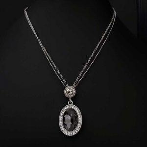 Black Diamante Pendant