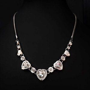 Diamante Heart Necklace