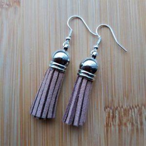 Brown Tassel Earrings