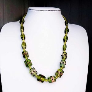 Lime Green Bead Necklace