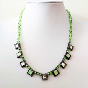 Green Square Necklace
