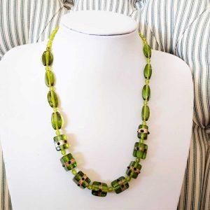Fancy Green Bead Necklace
