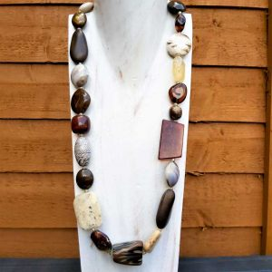 Mix Brown Bead Necklace