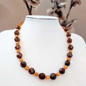 Orange & Brown Bead Necklace